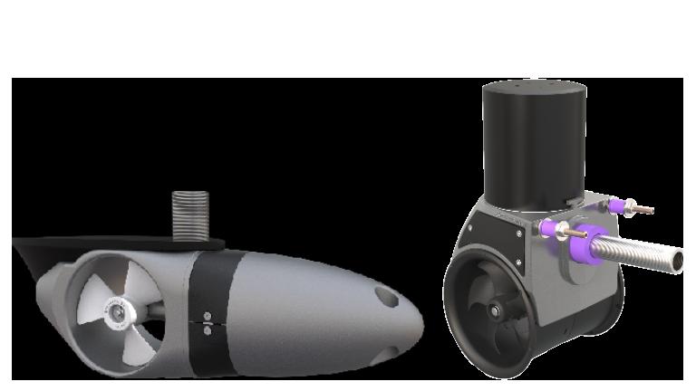 Side-Power externally mounted thruster