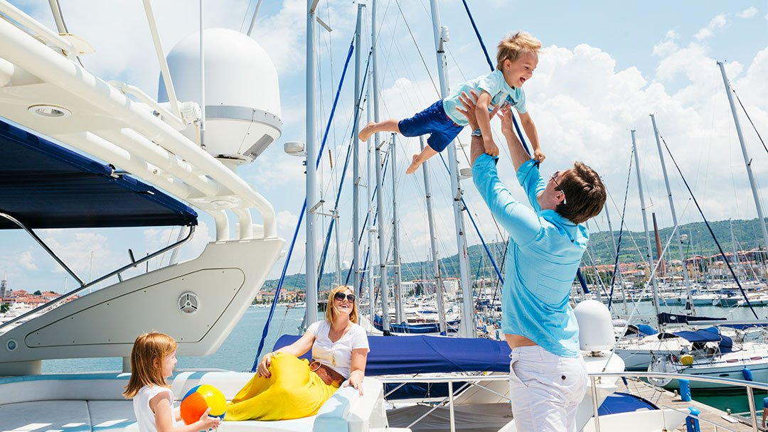 family confident boating with side-power thrusters