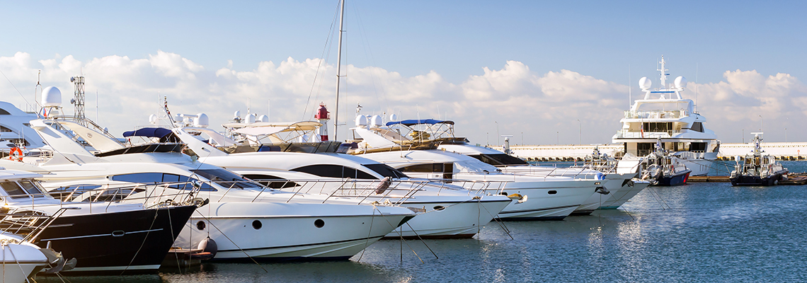 yachts and boats in harbour
